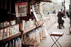 Book stalls along the Seine