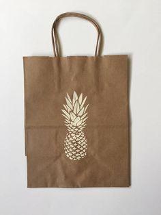 Pineapple Gift Bag Tropical Bachelorette Party Bridal