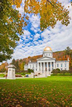 Vermont capital city capitol during autumn