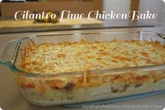 Cilantro Lime Chicken Bake For Paleo, replace the white rice with cauliflower rice