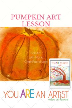 Fall Video Art Lessons with Nana! You ARE an ARTiST! Fall Video Chalk Art Lessons      pumpkin     caramel apple     turkey     acorn     wind in the tree     fall trees     roasting marshmallows around the campfire     apple pie and ice cream     warm mittens, scarf and hot chocolate #youareanartist #homeschoolart #fallartlessons Fall Video, Thanksgiving Art, Fall Trees, Roasting Marshmallows, Pumpkin Art, Art Curriculum, Autumn Art, Chalk Pastels, In The Tree