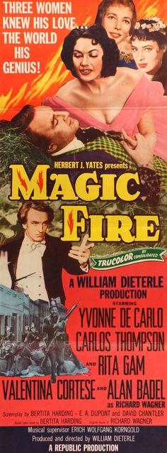 "Magic Fire (1955) Vintage Insert Movie Poster - 14"" x 36"""
