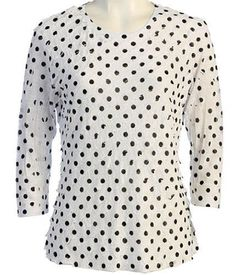 Jess & Jane - Polka Dots, Ruffle Accents, Scoop Neck, Sublimation Print Top