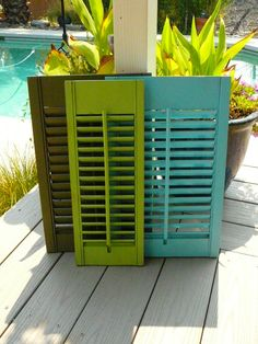 Old Painted Shutter/ French Cottage / SALE / Mail Sorter / Bulletin Board / Cottage Decorating, Decorating Ideas, Craft Ideas, French Cottage, Cottage Style, Painting Shutters, Mail Sorter, Old Shutters, Den Ideas