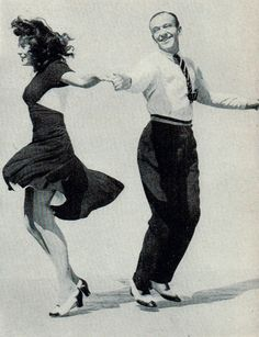 Paulette Goddard and Fred Astaire