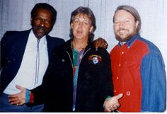 Chuck Berry, Paul McCartney and Joe Edwards, at Blueberry Hill, St. Louis, Missouri.