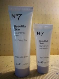 No 7 Cleansing Balm and Night Cream complementary from Beauty Blogger Vox Box