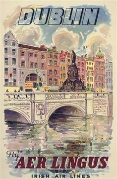 Dublin, Ireland _________________________ #Vintage #Travel #Poster