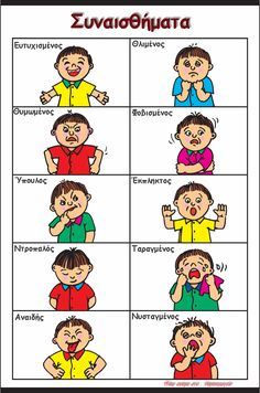 5 Best Images of Preschool Printables Emotions Feelings - Printable Preschool Feelings Faces Emotions, Printable Preschool Feelings Activities and Preschool Printables Feelings Emotions Learning English For Kids, English Lessons For Kids, Kids English, English Language Learning, Toddler Learning, Preschool Learning, English Words, Teaching English, Learning Activities