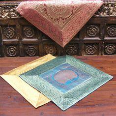 Наволочка «Узоры Раджастана», интерьерный текстиль, вискоза, шелк