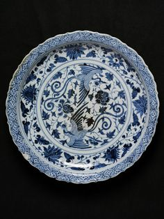 Dish  Jingdezhen, China   mid 14th century   Porcelain painted in underglaze blue  London, V, 102-1899