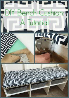 Diy No Sew Bench Cushion Diy Home Decor Pinterest Bench