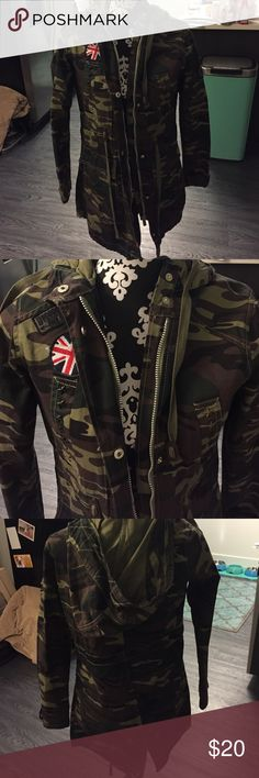 Army jacket New! Army print Jackets & Coats Trench Coats