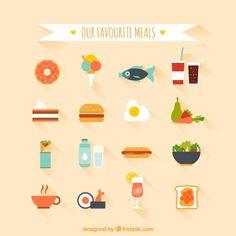 Repas favorites Vecteur gratuit