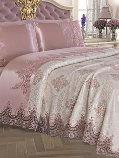 Room Ideas Bedroom, Dream Bedroom, Bedroom Decor, Luxury Bedspreads, Luxury Bedding, Bed Cover Design, Dreams Beds, Bedroom Styles, Luxurious Bedrooms