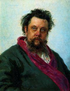 Портрет композитора М. П. Мусоргского. 1881. Илья Ефимович Репин