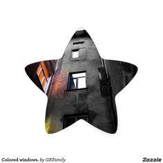Colored windows. star sticker