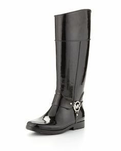 Fulton Harness Rainboot by MICHAEL Michael Kors at Neiman Marcus.  I came I saw I conquered. !!