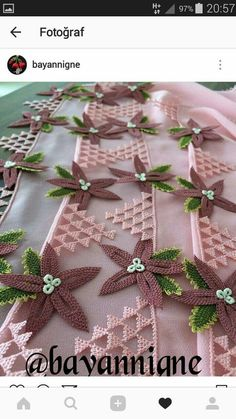 Diy Flowers, Crochet Bikini, Tatting, Diy And Crafts, Crochet Patterns, Gift Wrapping, Table Decorations, Clothes For Women, Lace