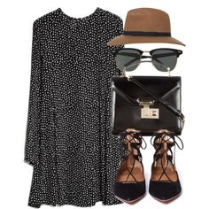 Untitled #4041 by laurenmboot on Polyvore featuring MANGO, Aquazzura, Rebecca Minkoff, Miss Selfridge and Ray-Ban
