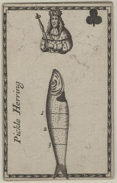 """From a deck of """"carving cards"""" printed by Joseph Moxon in London, circa 1680"""