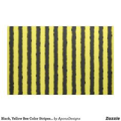 Black, Yellow Bee Color Stripes Fabric