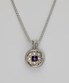 Take a look at this Silver Amethyst Pendant Necklace by Fantasy World Jewelry on #zulily today!