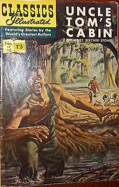 CLASSICS ILLUSTRATED #15 Uncle Tom's Cabin (HRN 167) British cover sticker VG/FN