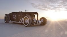 The Bonneville Salt Flat by colorsponge , via Behance