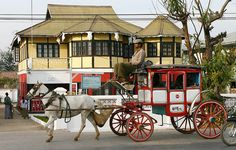 Unique horse carriages and British colonial houses make Pyin Oo Lwin