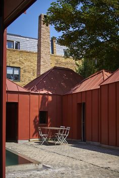 This site in suburban London is set away from the street and all the surrounding properties overlook it. Ensuring privacy is most critical. Our response has been to work with a low and inward looking courtyard arrangement. This offers the greatest privacy, both visually and acoustically. The design is a composition of different, mainly single storey pavilions allowing us to respond to the different conditions around the perimeter and create an ensemble that looks onto a secluded and serene…