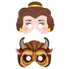 Printable Beauty and the Beast Masks $5