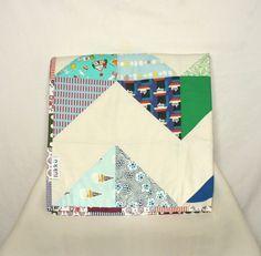 Handmade chevron baby quilt by Lukku on Etsy, $159.00