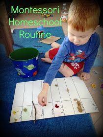 Confessions of a Montessori Mom blog: Montessori Homeschool Routine