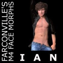 Ian M4 $2.99  Ian is a meticulously crafted facial morph for M4.  Please note the following:  M4 base and M4 Legacy INJ Slots must be ticked or checked when using PowerLoader.  Import for Daz Studio 4.5 first THEN apply INJ file to M4.  No textures included but will work with your favorite texture.