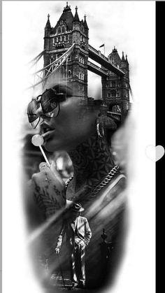 Realistic Tattoo Sleeve, Full Sleeve Tattoos, Tattoo Sleeve Designs, Forarm Tattoos, Chicano Tattoos, Tatoos, Gangsta Tattoos, Badass Tattoos, Drug Tattoos
