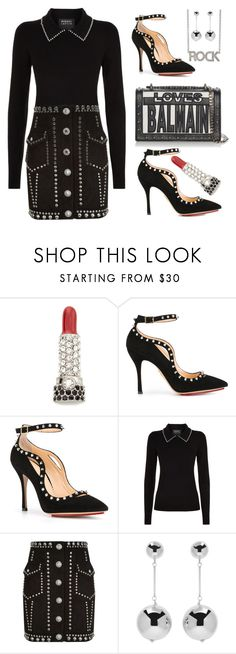 """""""Silver stud's"""" by ellenfischerbeauty ❤ liked on Polyvore featuring Marc Jacobs, Charlotte Olympia, Balmain, Markus Lupfer, J.W. Anderson and Zadig & Voltaire"""
