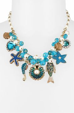 Betsey Johnson 'Sea Excursion' Charm Necklace available at #Nordstrom