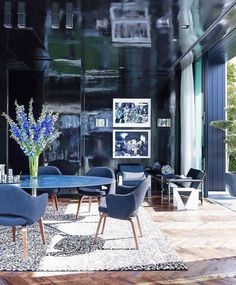 #blackwalls #blackinterior #diningroom   These Are the Hottest Home Trends Right Now, According to Instagram