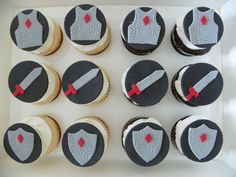 Edible Fondant Knight's Cupcake Toppers. $13,99, via Etsy.