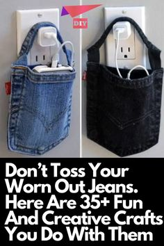 Don't Toss Your Worn Out Jeans. Here Are 35+ Fun And Creative Crafts You Do With Them