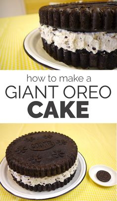 how to make a giant oreo cake
