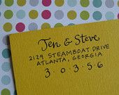 Jen Address Stamp (Self-inking) from lettergirl etsy shop