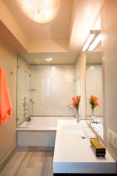 petite salle de bains avec baignoire douche 27 ides sympas - Petite Salle De Bain Douche Et Baignoire