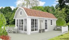Tiny House Cabin, Cozy House, Granny Pod, She Sheds, Cottage Interiors, Small House Design, Play Houses, Pergola, Farmhouse