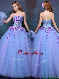 Wonderful Really Puffy A Line Quinceanera Dress with Appliques and Bowknot YCQD090FOR