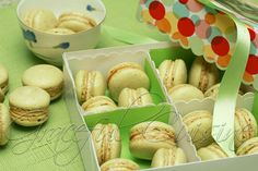 Green tea macarons with honey cream filling #cookies #maracons