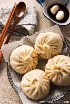 Addictive Kimchi Pork Steamed Bun   omnivorescookbook.com
