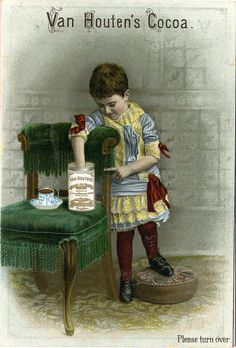 ♥VH1-A-13-2 van houten cocoa - girl with hand in cocoa tin by patrick.marks,