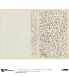 Legends and Lyrics by Adelaide Procter  Creator: White, Gleeson (White, Gleeson) Date of creation: um 1895
